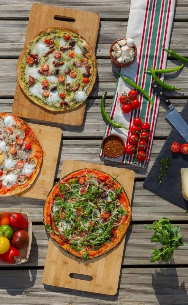 pizzas et ingrédients du Pays basque