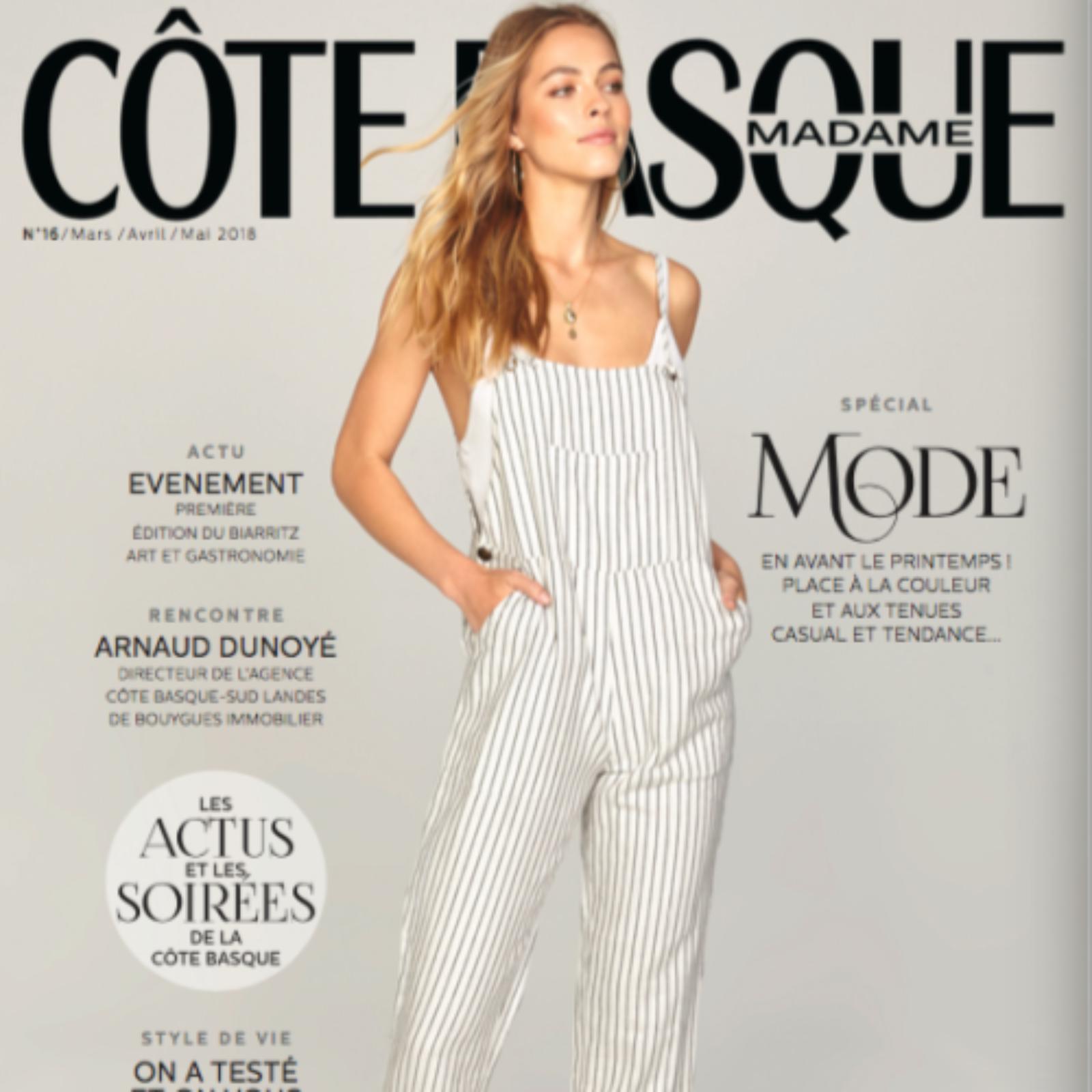 couverture magazine cote basque madame avril-mai 2018