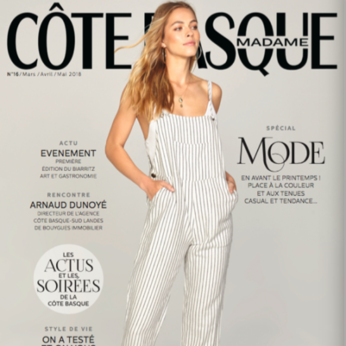 couverture magazine cote basque madame avril-mai 2018